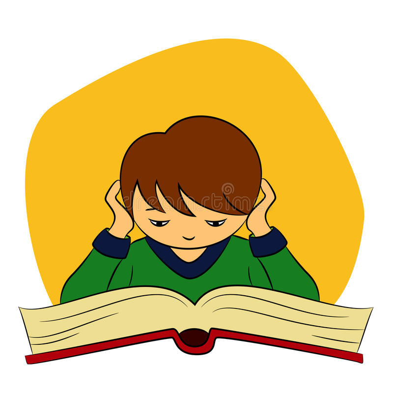 Los niños en escolar están leyendo libre illustration