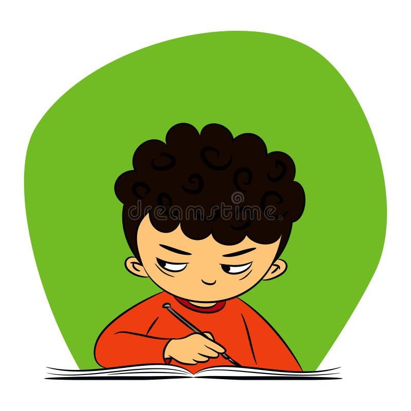 Los niños en escolar están mirando a escondidas libre illustration