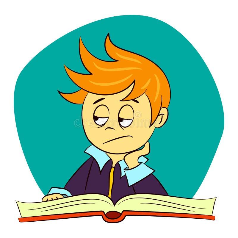 Los niños en escolar están sintiendo aburridos stock de ilustración