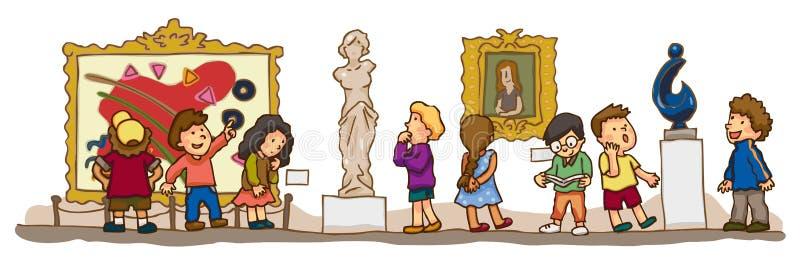 Los niños están teniendo un estudio educativo en AR stock de ilustración