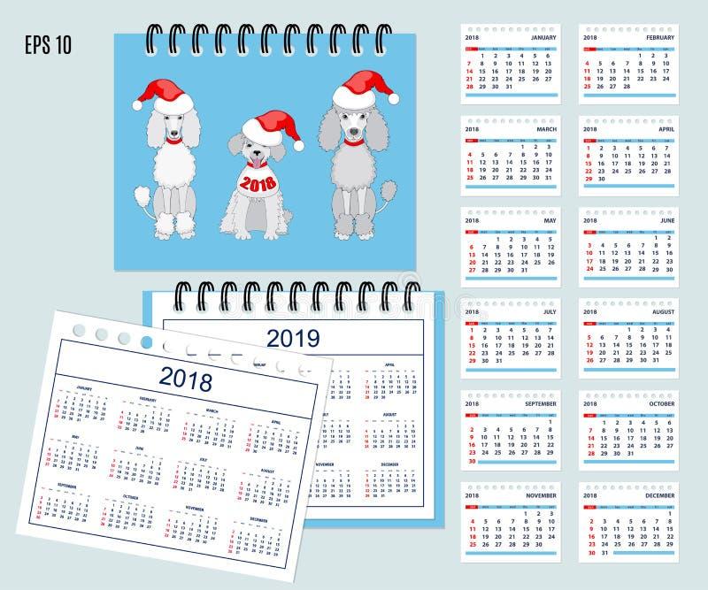 Los Niños Hacen Calendarios Por El Año 2018, 2019 De La Pared O Del ...