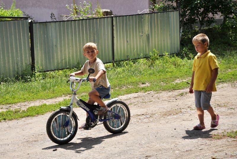Los niños village_6 de la calle fotos de archivo