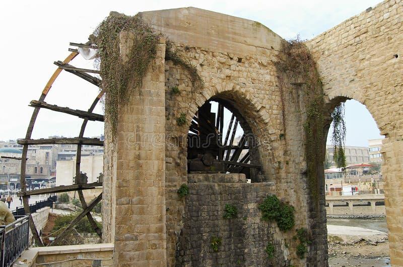 Los Norias de Hama - Siria fotografía de archivo