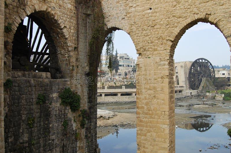Los Norias de Hama - Siria foto de archivo libre de regalías