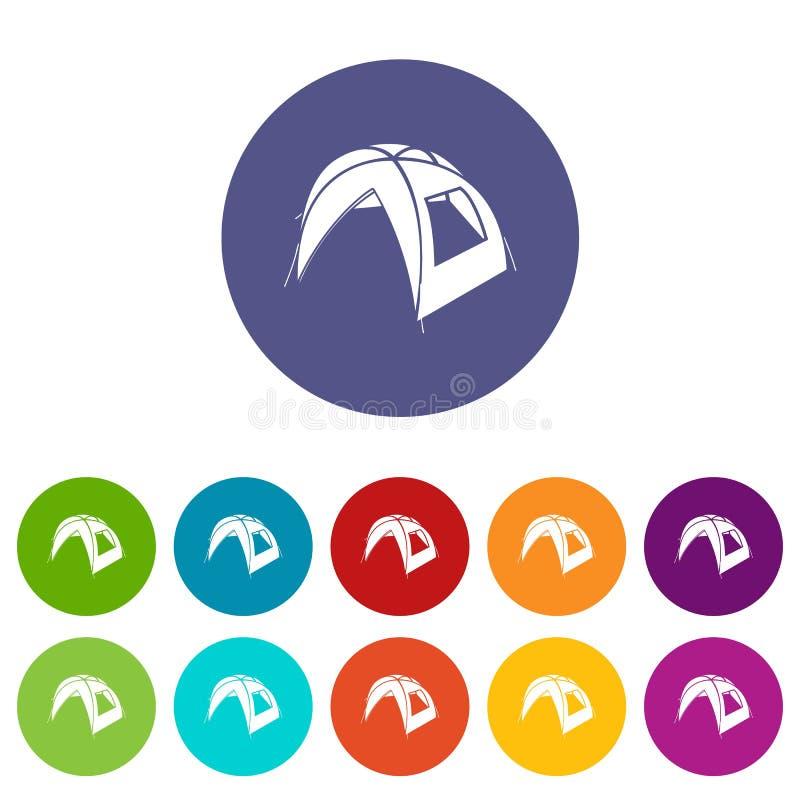 Los nuevos iconos de la tienda fijaron color del vector ilustración del vector
