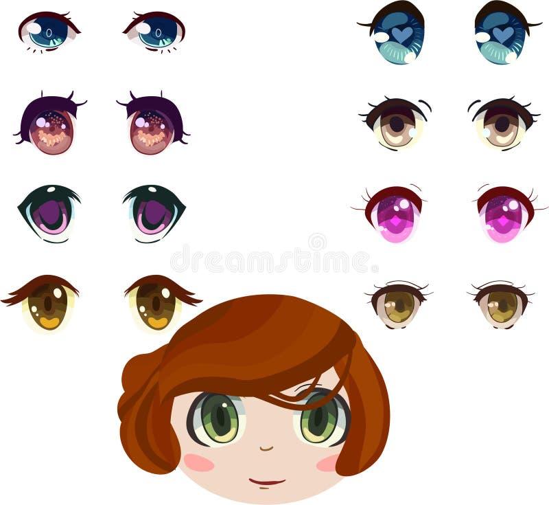 Los ojos del Anime fijaron libre illustration
