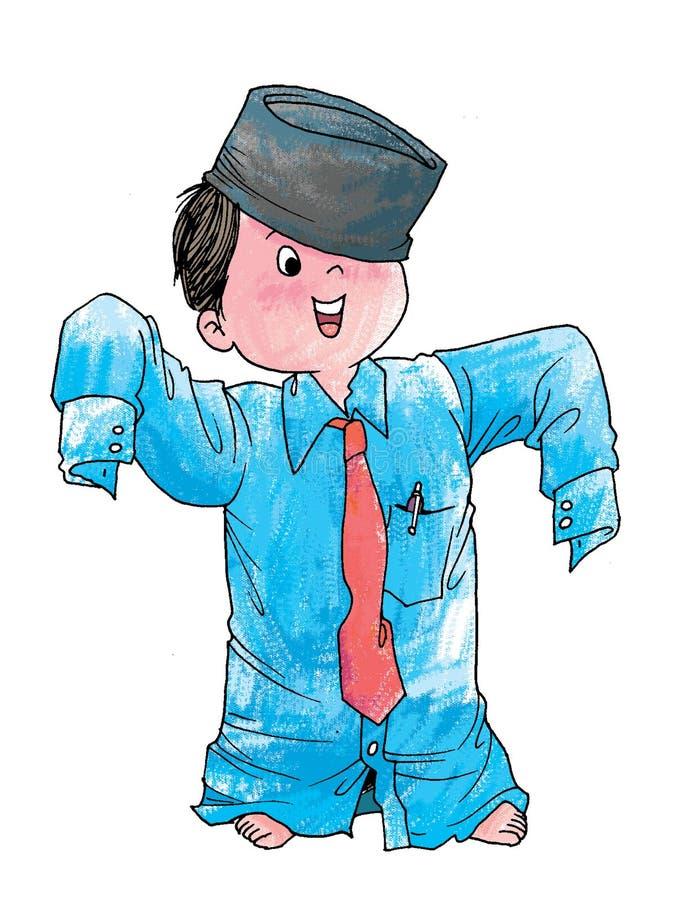 Los overhemd stock illustratie