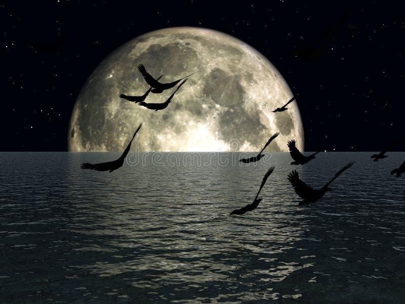 Los pájaros 3 stock de ilustración