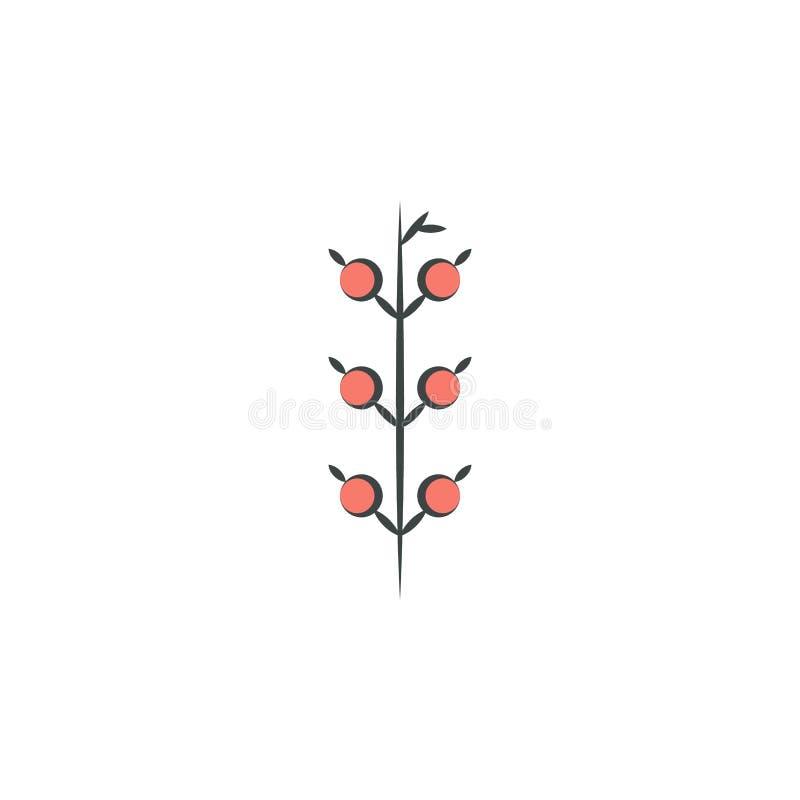 Los pájaros dan el icono dibujado mano coloreado Elemento del icono del otoño para los apps móviles del concepto y del web La man stock de ilustración