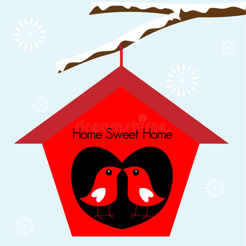 Los pájaros se dirigen el hogar dulce   ilustración del vector