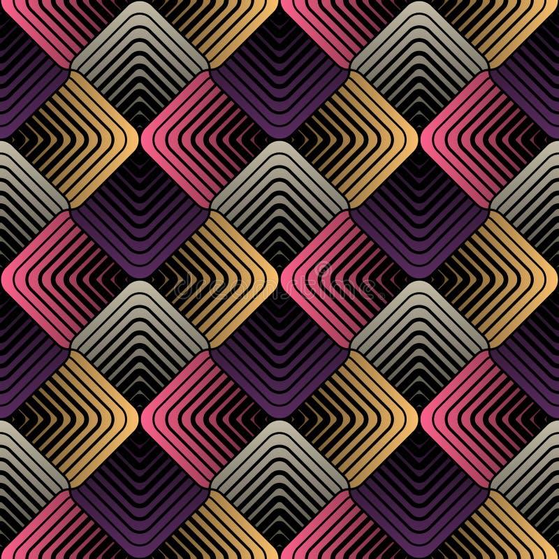 Los pétalos geométricos, Vector el modelo inconsútil fotografía de archivo libre de regalías