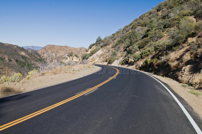 Los Padres road royalty free stock photos