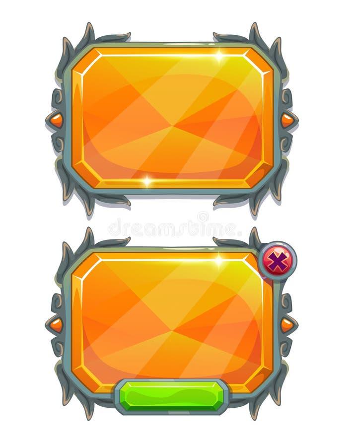 Los paneles cristalinos stock de ilustración