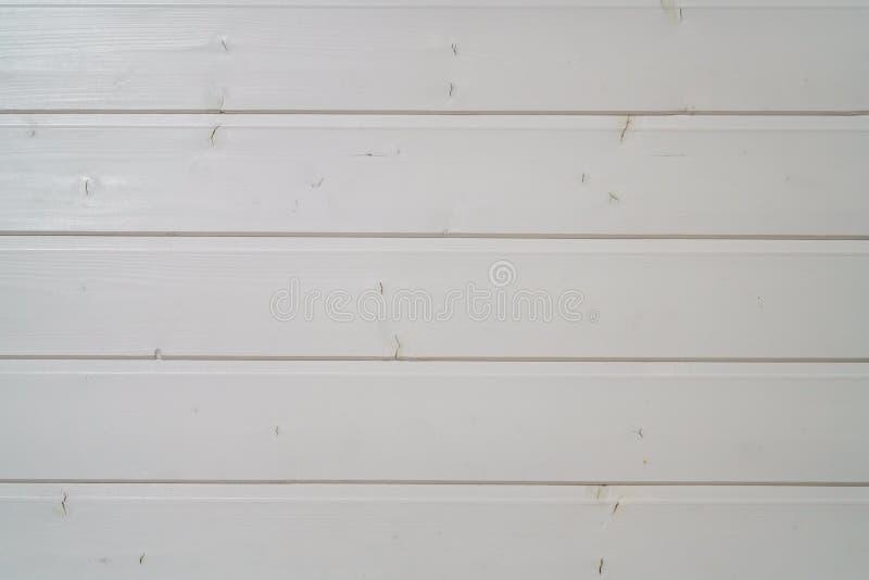 Los paneles de apartadero pintados madera blanca foto de archivo libre de regalías