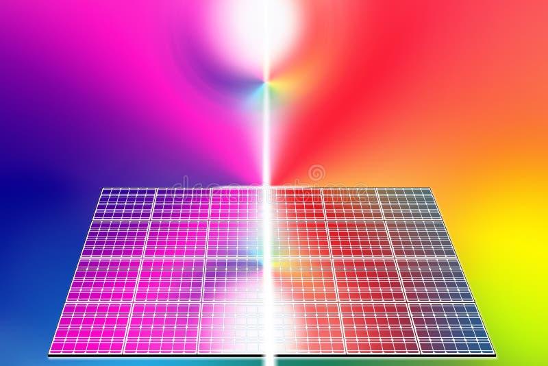 Los paneles de energía solar libre illustration