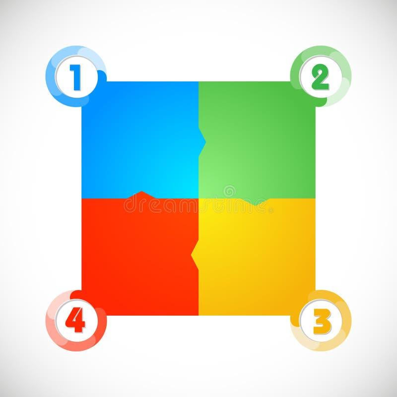 Los paneles de la colección con números u opciones stock de ilustración