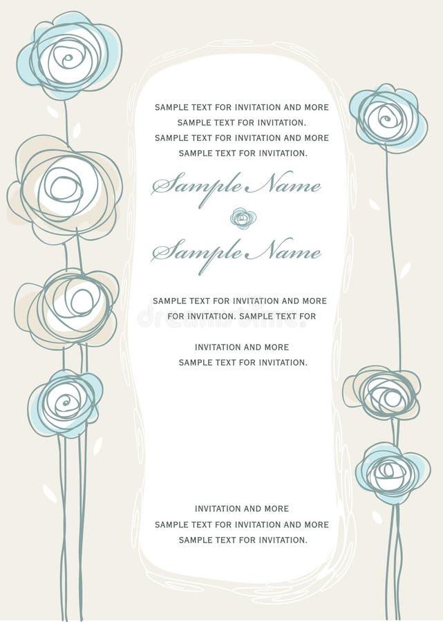 Los paneles de la invitación de la boda ilustración del vector