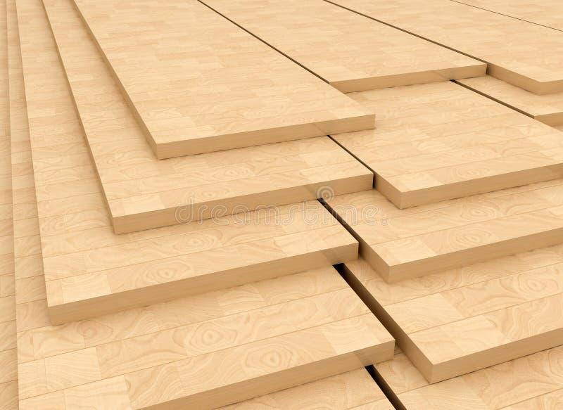 Los paneles de madera libre illustration