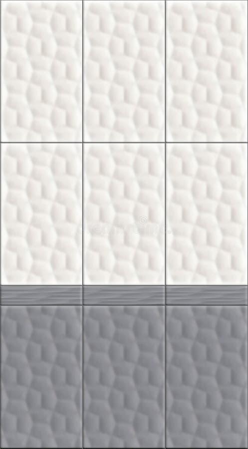 Los paneles de pared bicolores del efecto 3D que tejan el ejemplo inconsútil de la textura libre illustration
