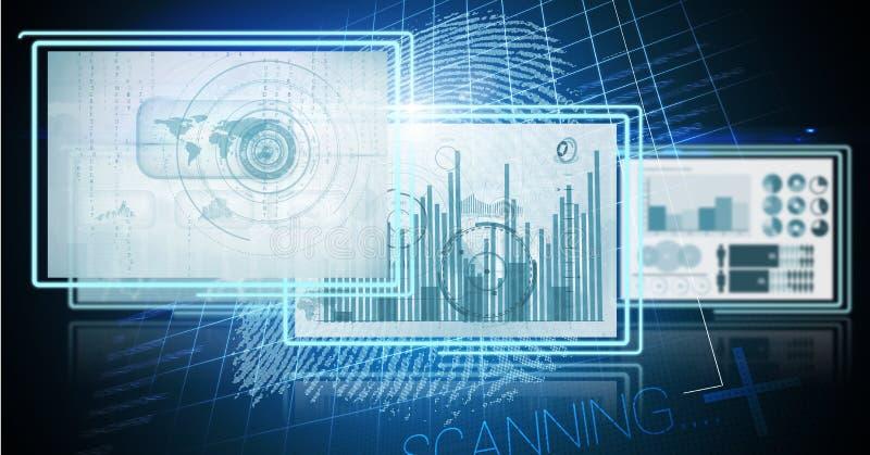 los paneles del interfaz de la tecnología stock de ilustración