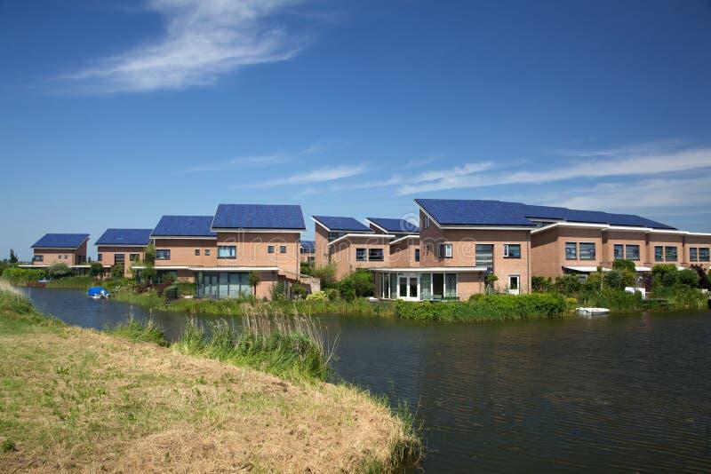 Los paneles solares foto de archivo