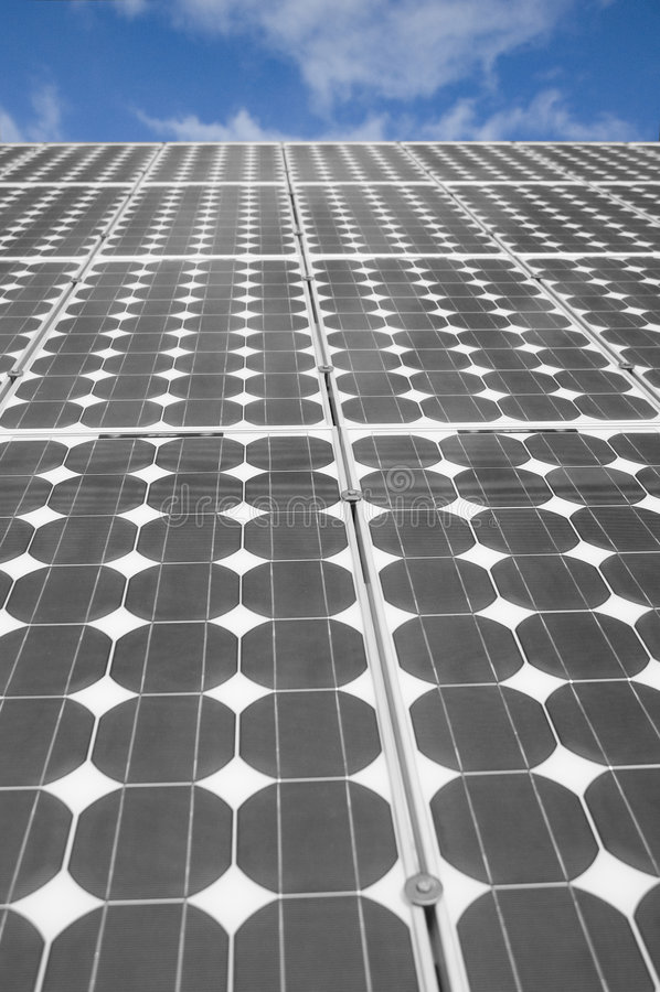 Los paneles solares 4 fotos de archivo