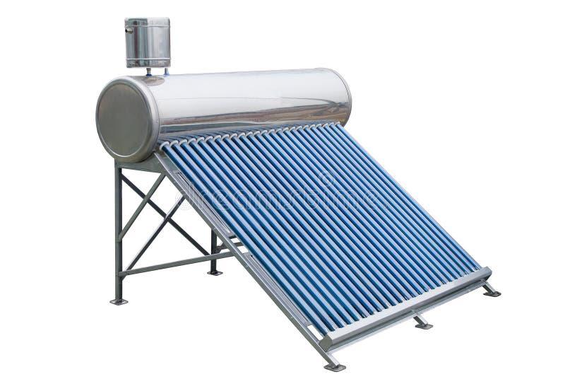 Los paneles solares para la agua caliente foto de archivo - Agua caliente solar ...