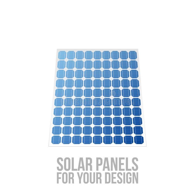 Los paneles solares para su diseño ilustración del vector