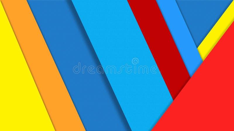 Los papeles abstractos del color texturizan para el fondo geométrico ilustración del vector