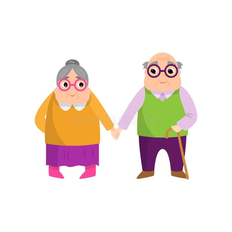 Los pares de la mujer y del hombre mayores aman la eternidad para el toda la vida libre illustration