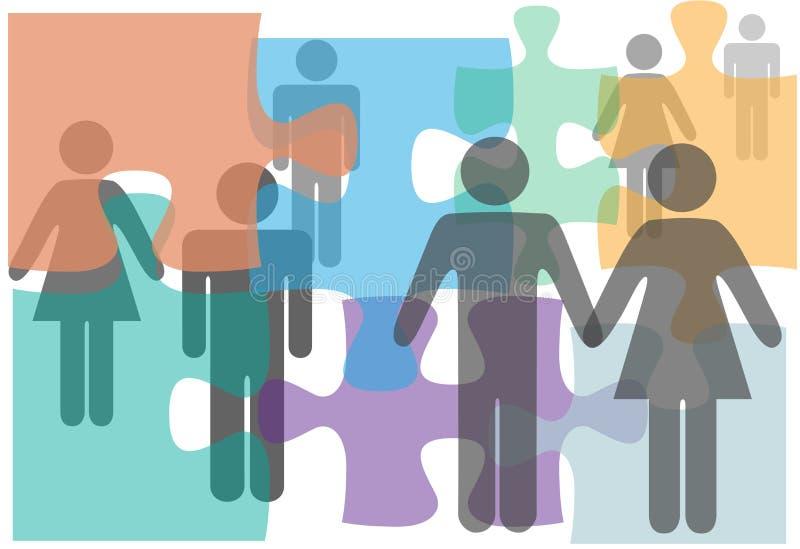 Los pares del asesoramiento de unión escogen a gente del divorcio libre illustration