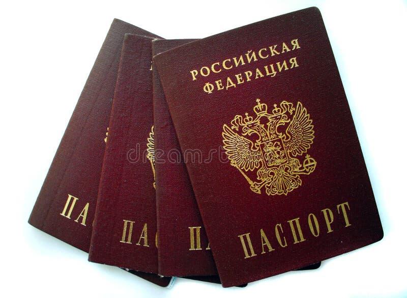 Los pasaportes rusos aislaron foto de archivo
