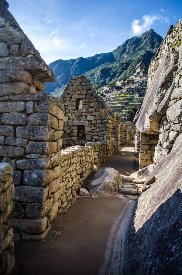 Los-pasillos de Machu Picchu royaltyfri fotografi