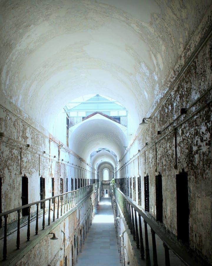 Los pasillos vacíos del estado del este penitentuary foto de archivo libre de regalías