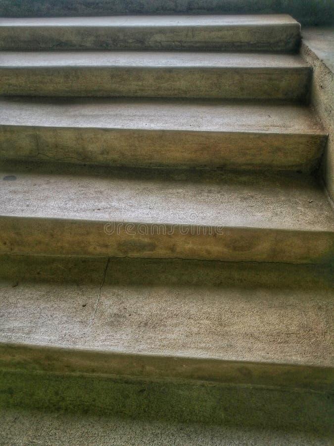los pasos concretos los pasos del cemento fotos de archivo libres de regalías