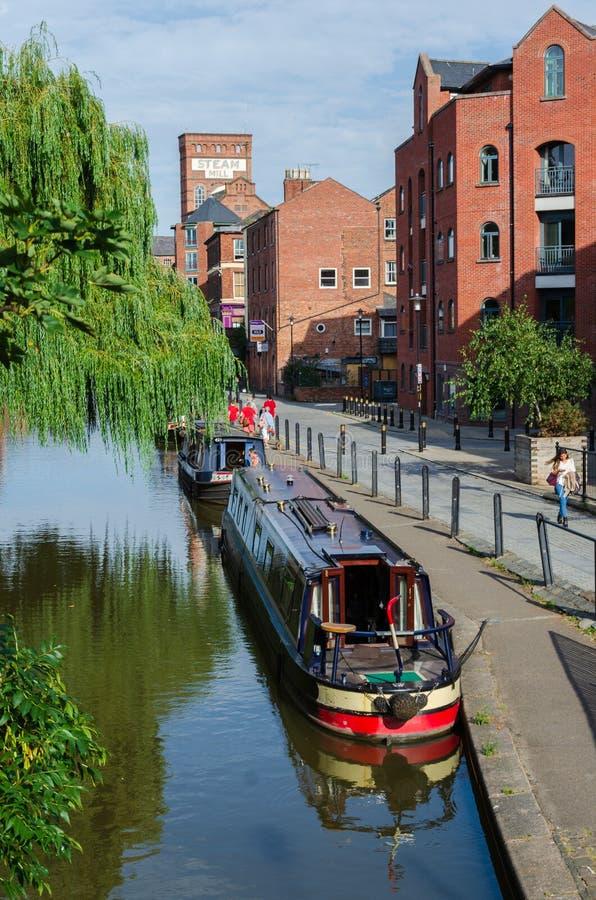 Los pasos del canal de la unión de Shropshire a través de Chester fotos de archivo libres de regalías