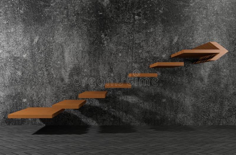 Los pasos a moverse adelante ilustración del vector