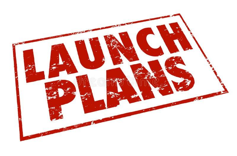 Los pasos rojos del consejo de la información del sello de los planes del lanzamiento comienzan nuevo Busine ilustración del vector