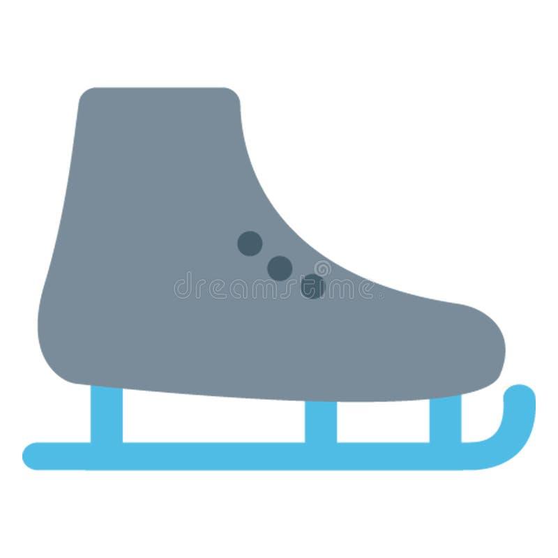Los patines de hielo colorean el icono del vector se modifican o corrigen fácilmente ilustración del vector