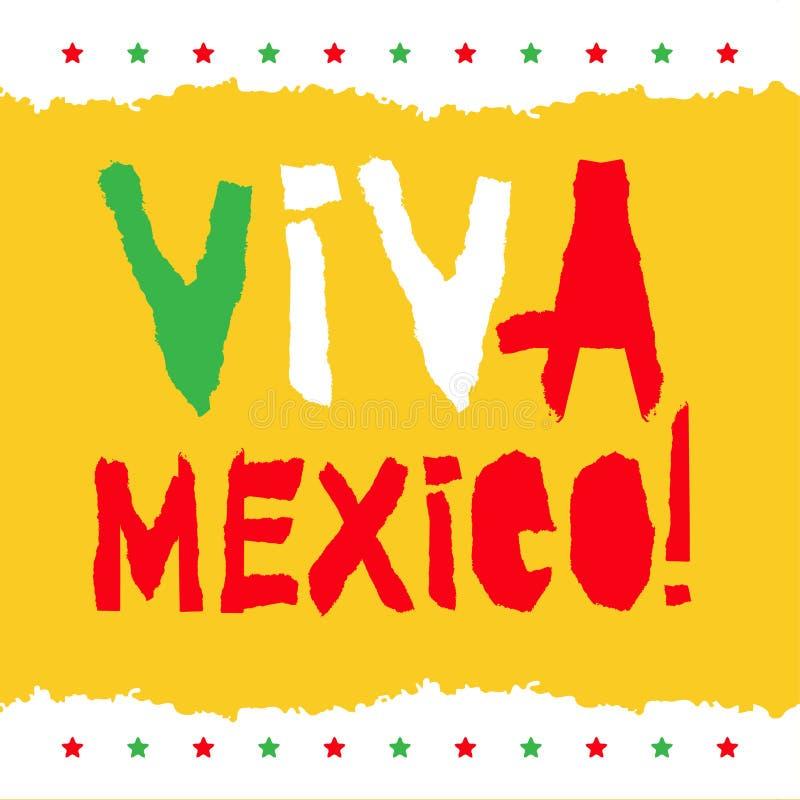 Diseño Gráfico De La Camiseta Insignia De Viva Mexico