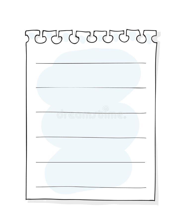 Los pedazos de blanco rasgado alinearon vecto dibujado la mano de papel del arte del cuaderno stock de ilustración