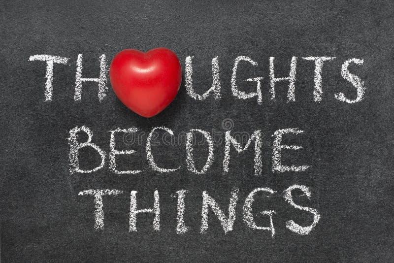 Los pensamientos se convierten en cosas foto de archivo libre de regalías