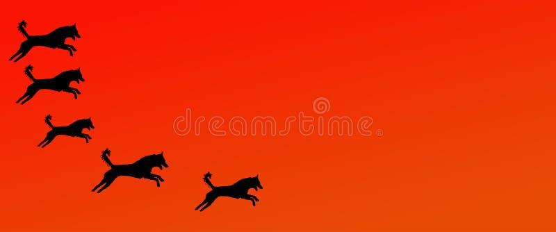 Los perros caseros del fondo del jefe modelan en fondo anaranjado de la pendiente libre illustration