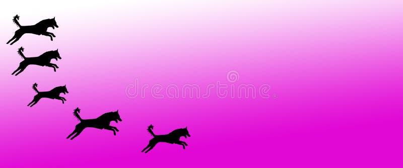 Los perros caseros del fondo del jefe modelan en fondo magenta de la pendiente libre illustration