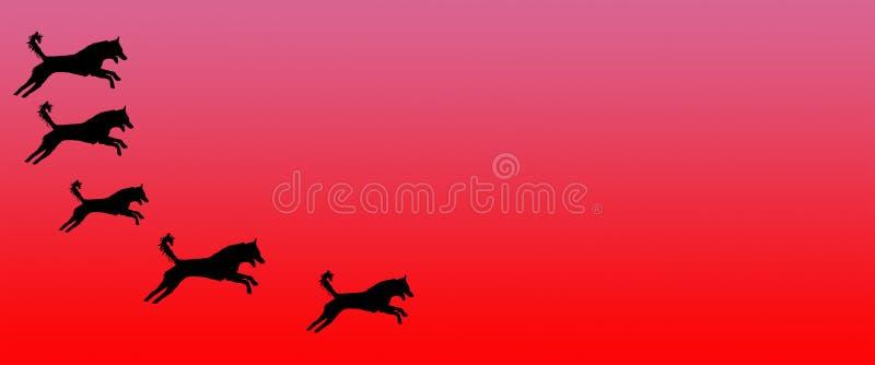 Los perros caseros del fondo del jefe modelan en fondo rosado de la pendiente libre illustration