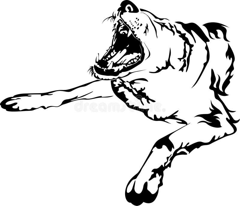 Los perros descubrieron los dientes stock de ilustración