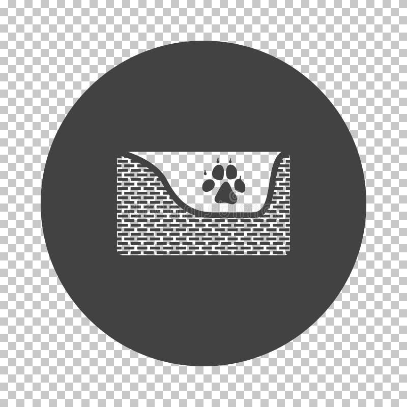 Los perros duermen icono de la cesta stock de ilustración