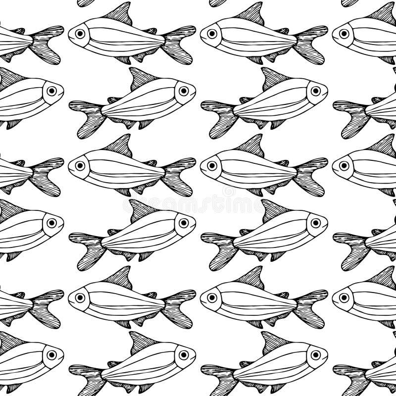 Los pescados modelan el fondo blanco aislado libre illustration