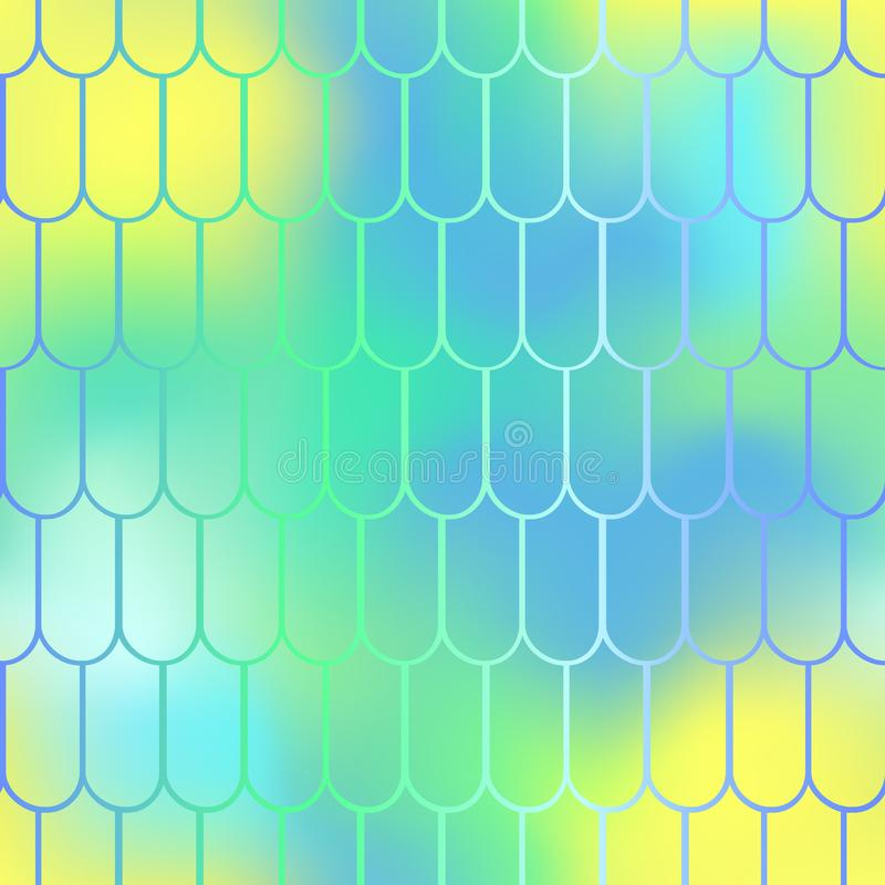 Los pescados pelan el modelo inconsútil Fondo de la escala de la sirena Fishscale en colores pastel libre illustration
