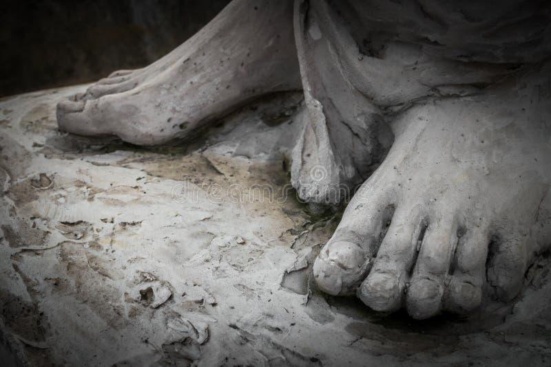 Los pies de Cristo foto de archivo libre de regalías